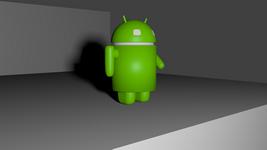 Mascotte d'android modélisée à l'aide deux blueprints