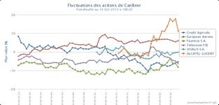 Graphique des fluctuations